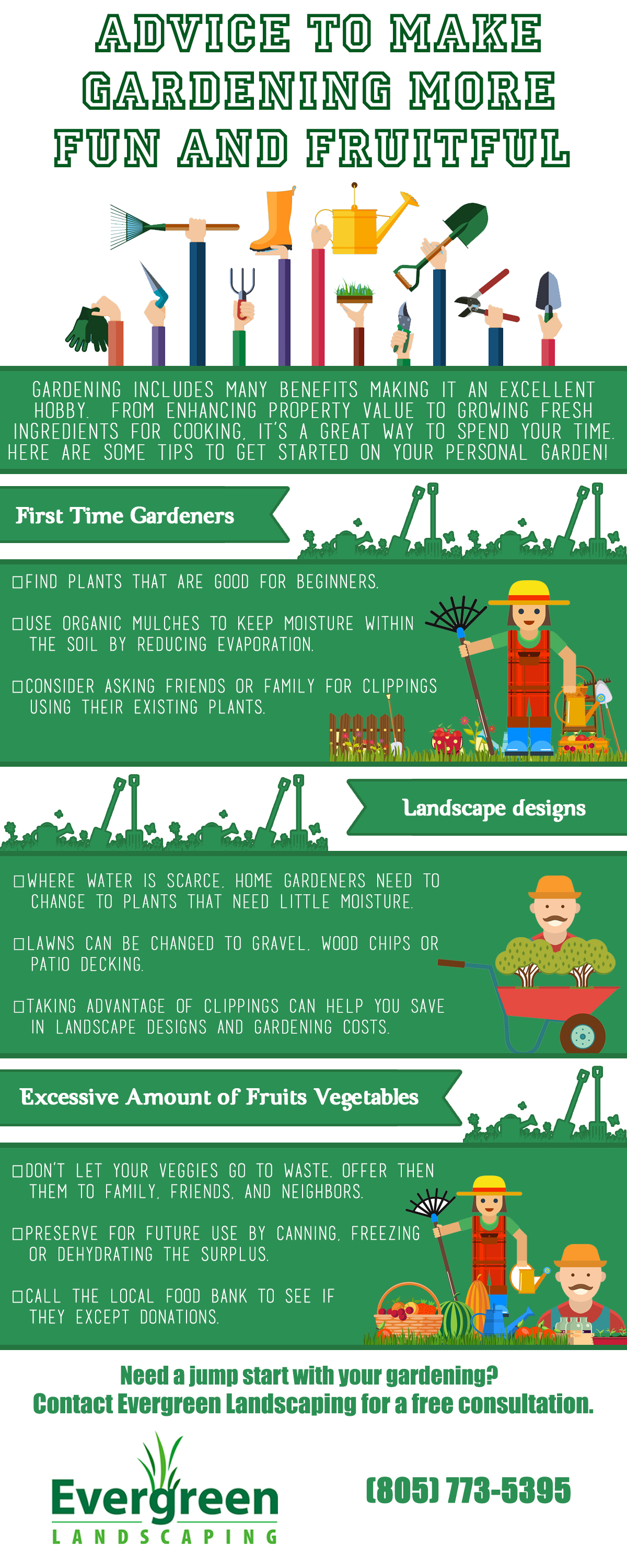 Advice To Make Gardening More Fun And Fruitful [Infographic]