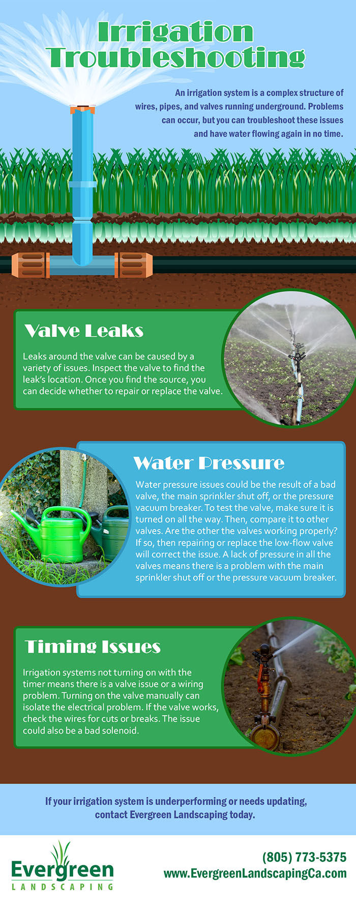 Irrigation Troubleshooting Infographic Evergreen
